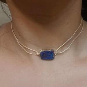 Jewelry - NEW handmade Blue pyrite chocker